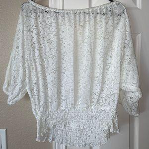 Liberty love white lace top